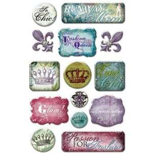 So Stylish Rhinestone Epoxy Stickers Arts, Crafts
