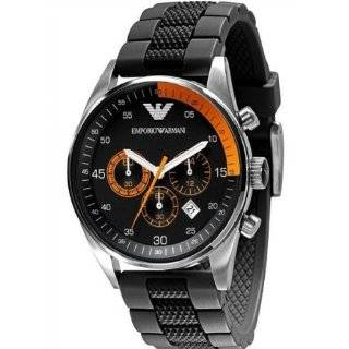Mens AR5865 Rubber with Black Dial Watch Emporio Armani Watches