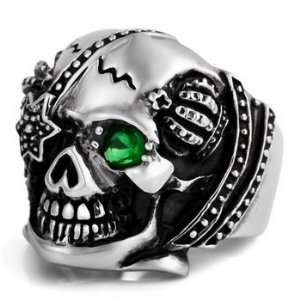 Gothic Skull MENS Stainless Steel Ring Size 10 Justeel