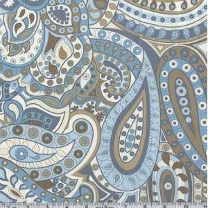 45 Wide Surf & Sand Baby Bohemian Paisley Blue Fabric By