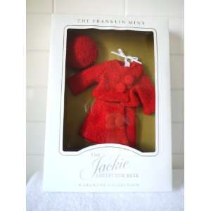 Franklin Mint The Jackie Collector Bear Wardrobe Collection   Red Suit