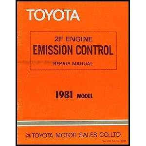 Toyota Land Cruiser 2F Engine Emission Control Manual Original Toyota