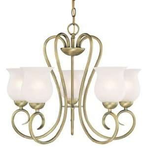 Westinghouse 67296   5 Light Oyster Bronze Ceiling Chandelier Light