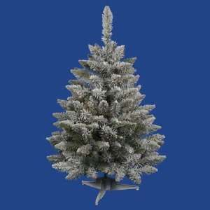 Flocked Sugar Pine Artificial Christmas Tree   Unlit