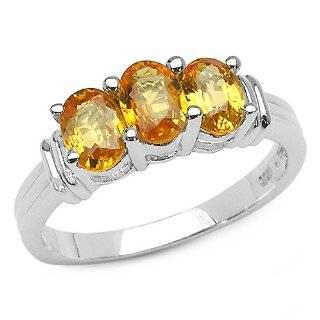 Fashion Rings   1/10 (0.09 0.12) Ct Diamond & Yellow Sapphire Ring in