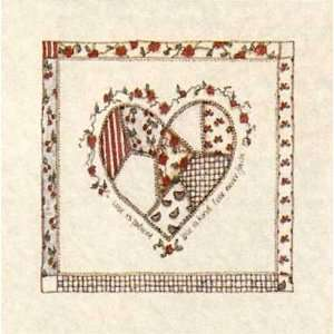 Quilted Heart Love Is Patient Poster Print