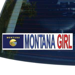 MONTANA GIRL   flag   Window Bumper Laptop Sticker