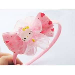 SALE Hello Kitty Headband Hair Clip Color Pink for Little Girls ~ One