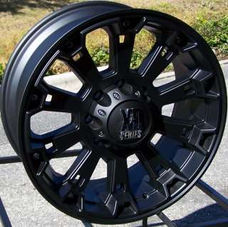 17X8 BLACK XD MISFIT WHEELS RIMS FORD F 150 EXPEDITION NAVIGATOR