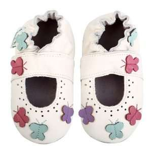 Momo Baby Soft Sole Baby Sandal Shoes   Butterflies White