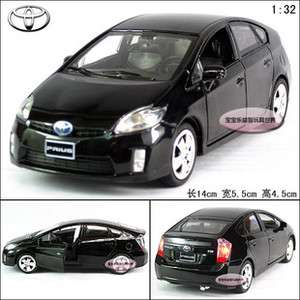 New 132 Toyota Prius Alloy Diecast Model Car With Sound&Light Black